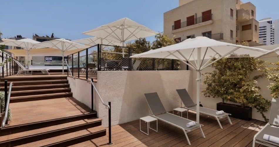 Терраса для загара -Метрополитен Отель Тель Авив